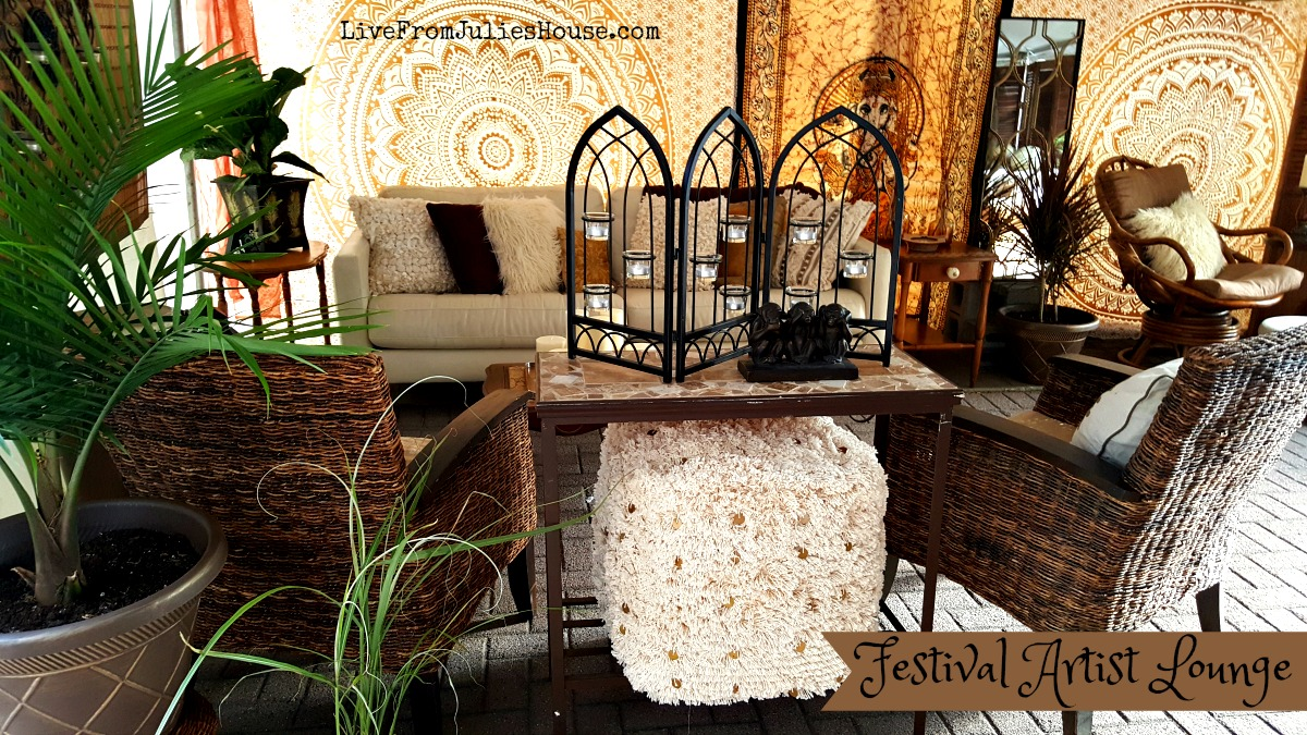 Funky boho lounge - I recently created a fun & funky boho lounge for a festival I am involved with. The best part is - I made it all happen with a $500 budget!