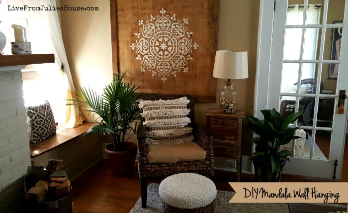 DIY Mandala Wall Hanging - Want to add a dramatic boho style piece of art to your walls without breaking the bank? Check out my DIY Mandala Wall Hanging tutorial.