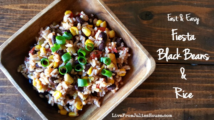 Fast & Easy Fiesta Black Beans & Rice - This fast and easy Fiesta Black Beans & Rice is a great side dish to have in your back pocket for busy weeknights. Goes great with Mexican or grilled food.