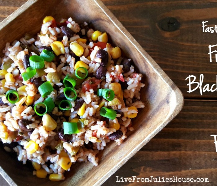 Fast & Easy Fiesta Black Beans & Rice