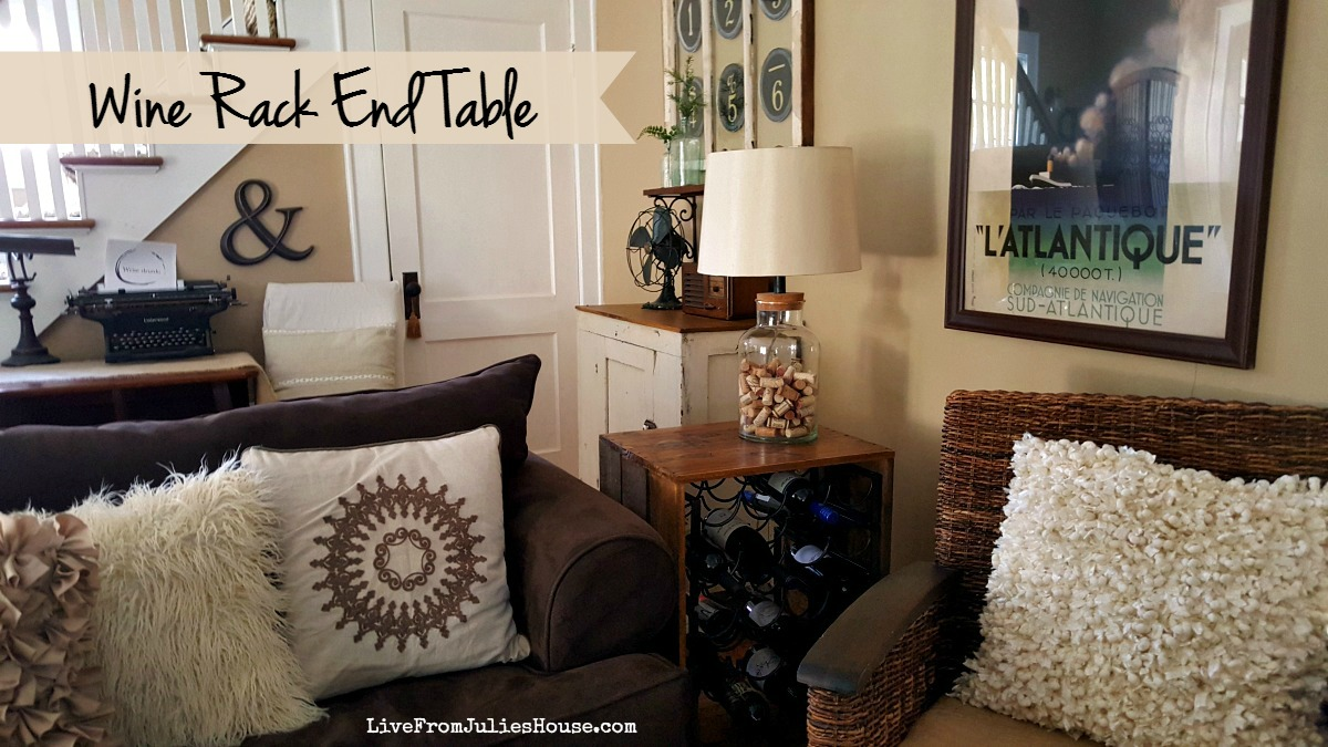 Thrift Store Upcycle: Wine Rack End Table