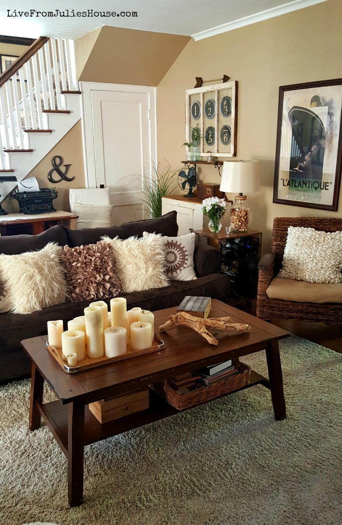 Small Boho Living Room: Monochromatic Boho Living Room