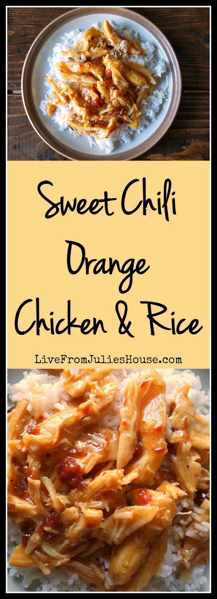 Sweet Chili Orange chicken & rice