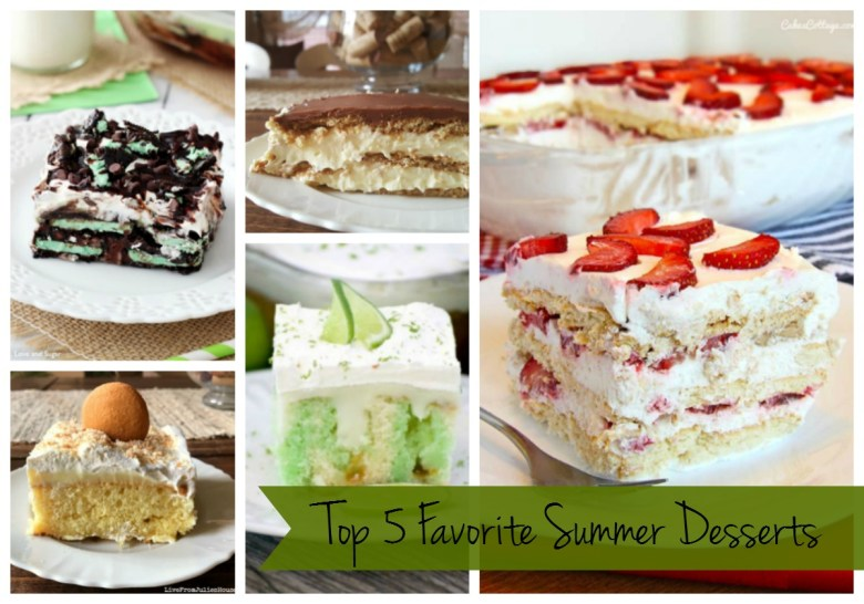 Top % Favorite Summer Desserts