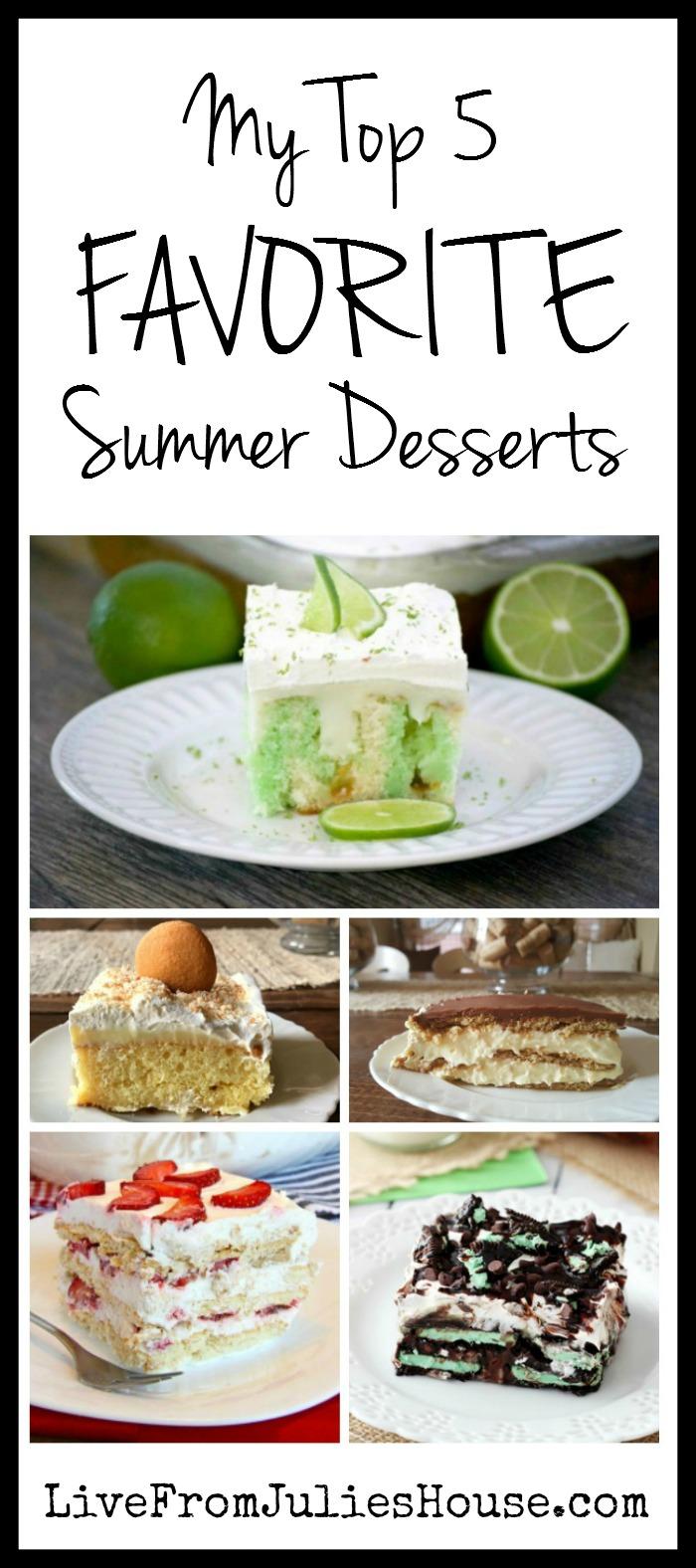 Top 5 Favorite Summer Desserts