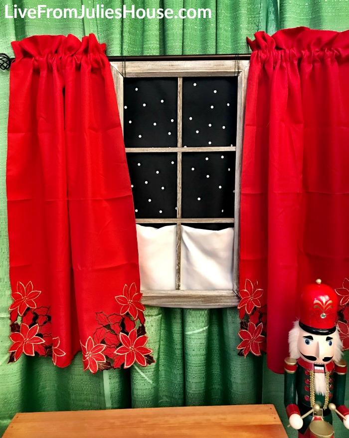 Faux Christmas Window