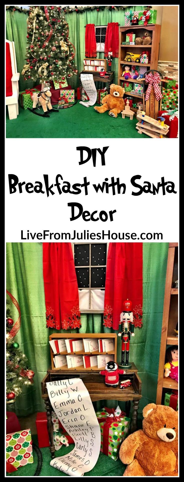 DIY Breakfast with Santa Decor