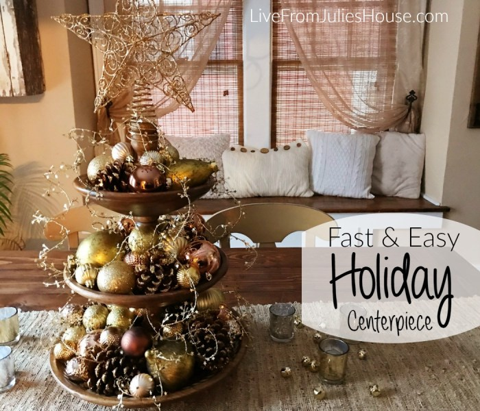 Fast & Easy Holiday Centerpiece