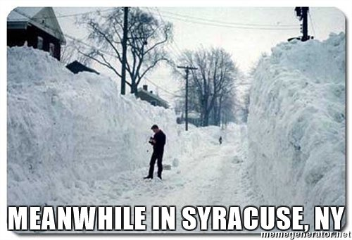 Syracuse Snow Meme