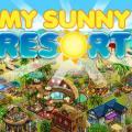 My Sunny Resort - логотип на фоне города