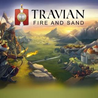 Travian - логотип на фоне арта по игре