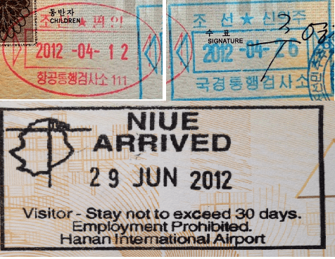 passport stamps visa to coolest rarest secret niue north korea livein10countries
