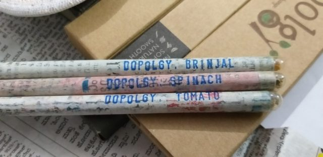 Eco-Friendly Newspaper Seed Pencils