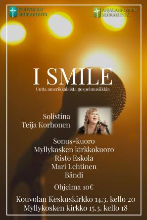 14.03.2020 I Smile -konsertti Kouvolan keskuskirkosta