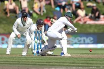 DUNEDIN, NEW ZEALAND - MARCH 09: Quinton de Kock of South Africa bats during day two of the First Test match between New Zealand and South Africa at University Oval on March 9, 2017 in Dunedin, New Zealand. (Photo by Dianne Manson/Getty Images)