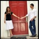 Aline & Ramin at the Door