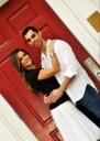 Aline & Ramin with red door