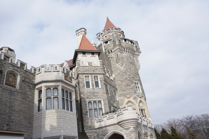 The enigmatic castle tower..