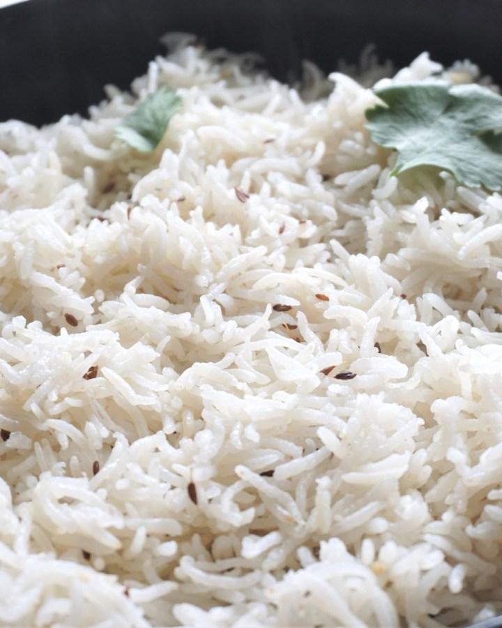 Instant Pot Basmati Jeera Rice in a Bowl
