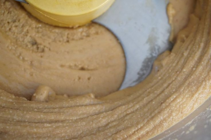 peanut butter in food processor
