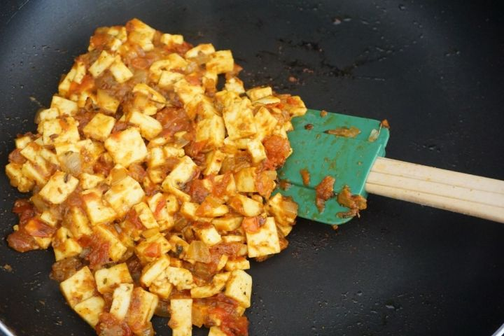 added paneer dices