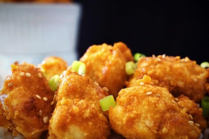 baked general tso cauliflower bites