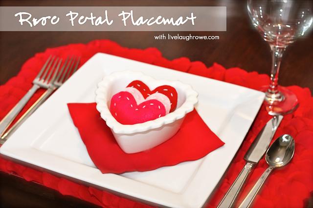 rose petal placemat