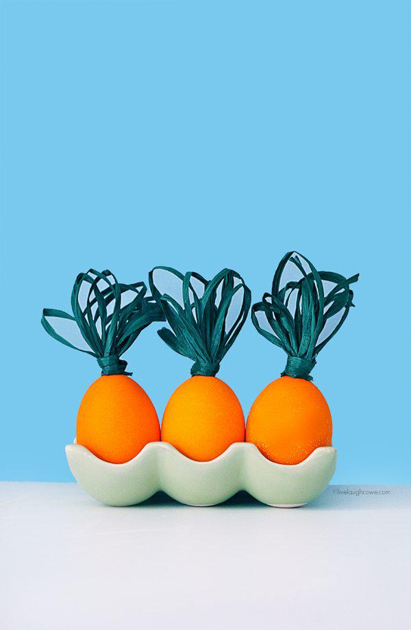 Adorable Carrot Easter Eggs. livelaughrowe.com