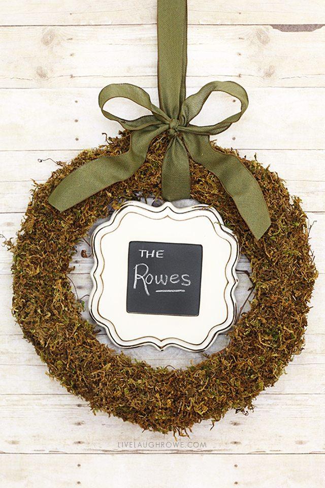 Fabulous Floral Moss Wreath with a frame? Genius! livelaughrowe.com