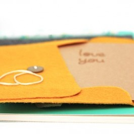 Add a little whimsy to a letter or gift card by making a handmade felt envelope. livelaughrowe.com