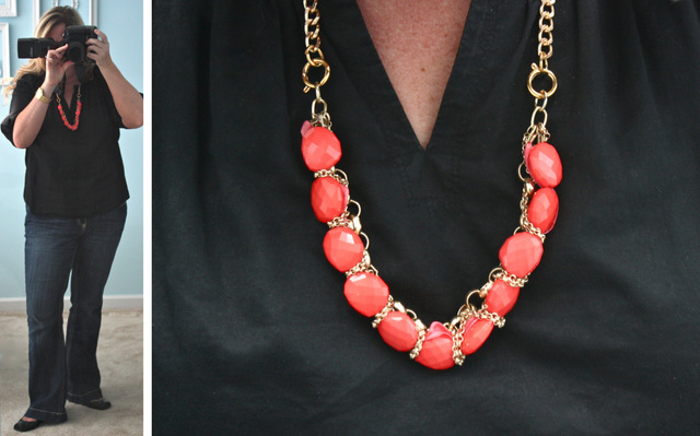 {styled} by Tori Spelling Coral Necklace via livelaughrowe.com