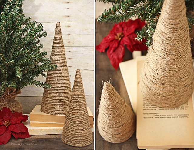 Twine Wrapped Christmas Trees