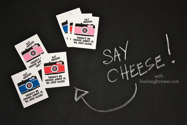 Camera Free Valentine Printables