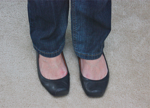 black lucky shoes