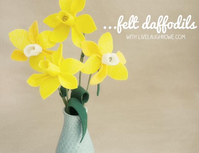 felt flowers and daffodils