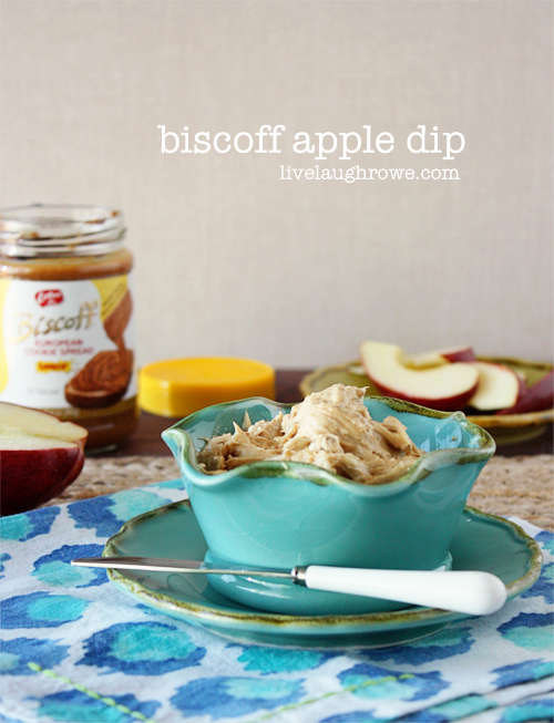 Biscoff Apple Dip, a Biscoff Recipe with livelaughrowe.com