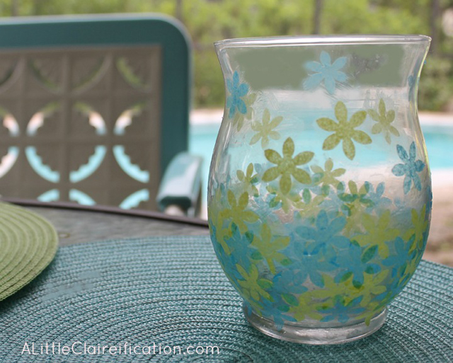 Guest Post   DIY Faux Stained Glass Candle Holders with livelaughrowe.com