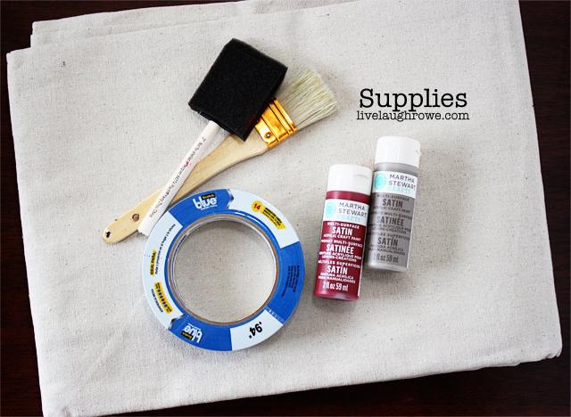 Supplies. DIY Drop Cloth Table Runner
