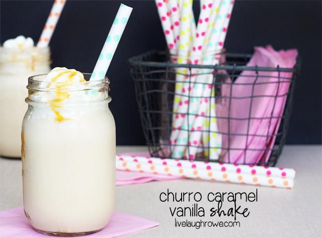 Churro Caramel Vanilla Shake with livelaughrowe.com