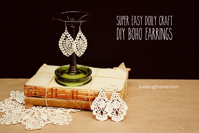 Super Easy Doily Craft. DIY Boho Earrings with livelaughrowe.com