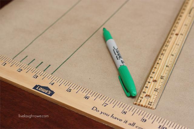 DIY Football Field Table Runner using Kraft Paper and a Green Sharpie marker