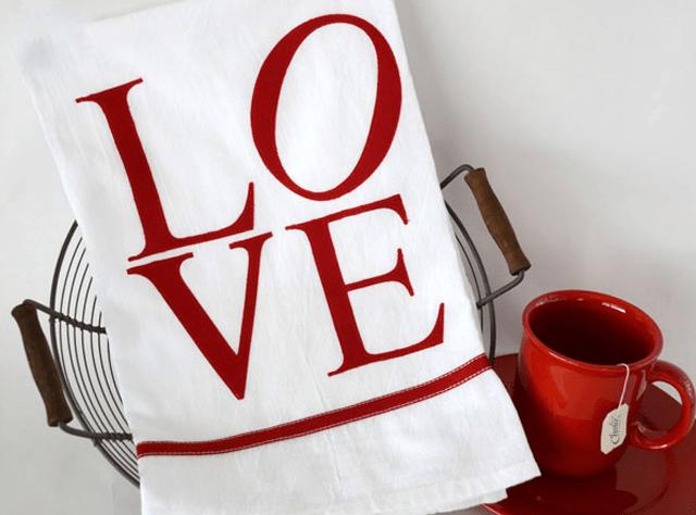 DIY Love Hand Towel