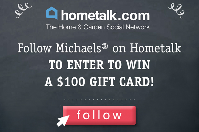 Hometalk and Michaels Pinterst Party #Giveaway