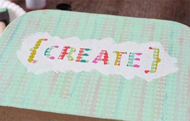 Decorative Paper Mache Suitcase