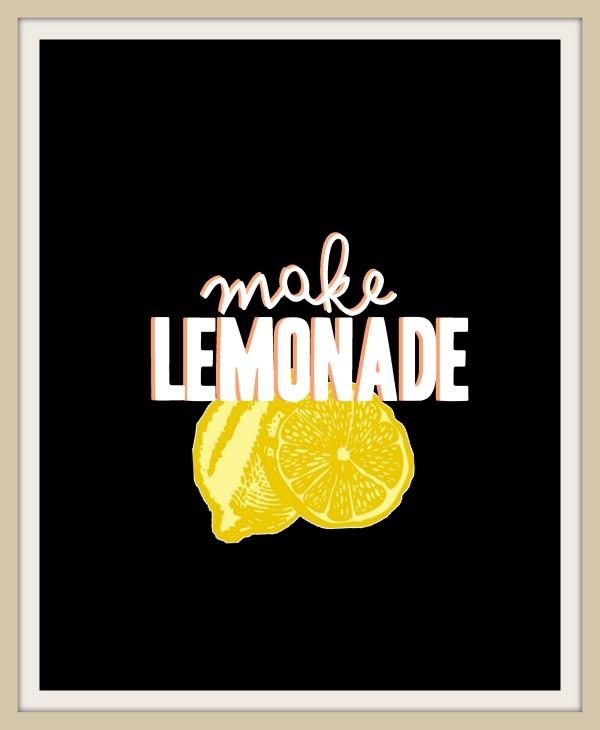 free printable make lemonade
