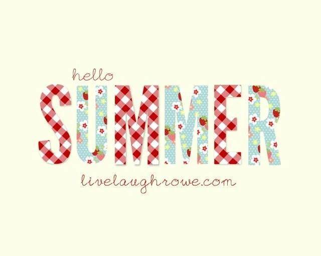 Hello Summer Printable with livealaughrowe.com