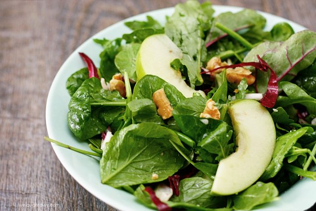 Arugula, Radicchio and Apple Salad from Cooking Planit. #EatFreshChallenge