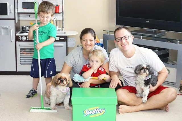 """Swiffer. A pet owners """"other"""" best friend! I love that I can keep my floors looking like new with the help of Swiffer. #SwifferEffect"""