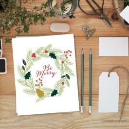 Tis the Season! Loving this Be Merry Christmas Printable from livelaughrowe.com