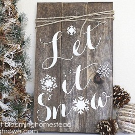 DIY Winter Woodland Sign. Let it snow, let it snow, let it snow....